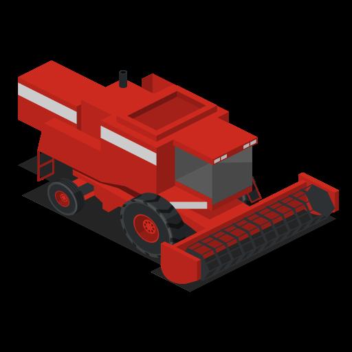 combine, farm, front, rural, vehicle icon
