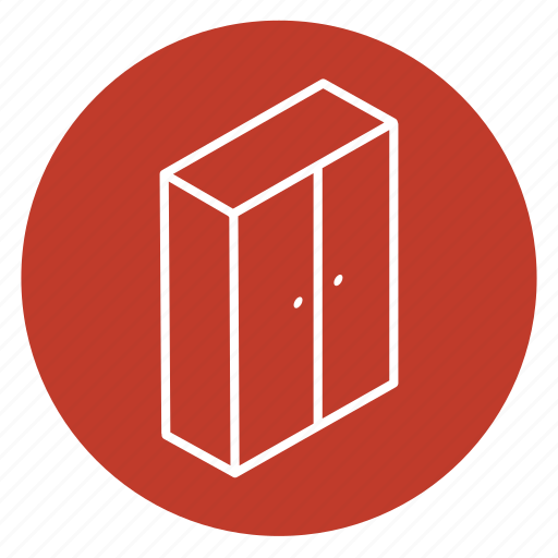 cabinet, closet, clothes, clothing, container, room, wardrobe icon