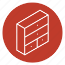 container, closet, cabinet, bedroom, wardrobe, clothing, clothes icon