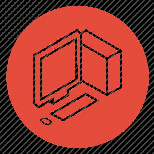 computer, desktop, pc, programming, work, working, workplace icon