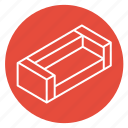 chill, couch, furniture, interior, living room, relaxing, rest icon