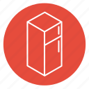 cooking, dinner, drinks, food, freezer, fridge, refrigerator icon