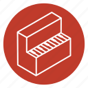 furniture, instrument, music, piano, pianoforte, wing icon