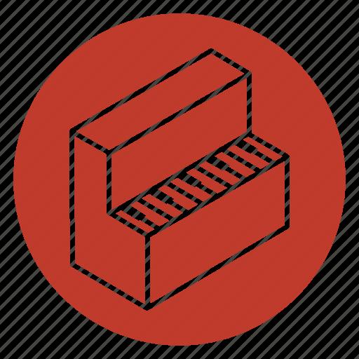 furniture, instrument, music, piano, pianoforte, wing icon