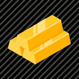 bar, bars, gold, goldbars, isometric icon