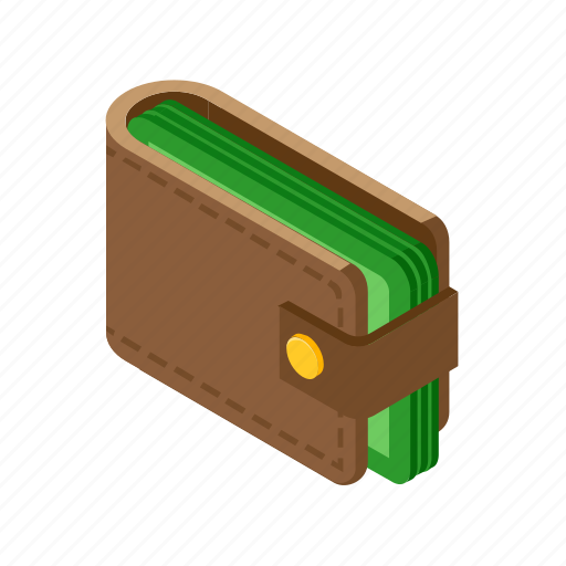 Cash, isometric, money, wallet icon - Download on Iconfinder