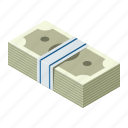 cash, dollar, isometric, money icon