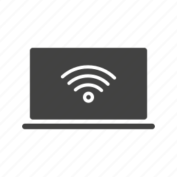 business, computer, laptop, online, people, wifi, wireless icon