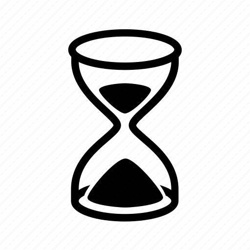 clock, hourglass, loading, sandglass, time, timer icon