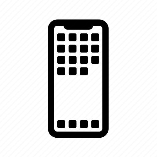 iphone, iphone x, mobile, mobile phone, phone, phone display, smartphone icon