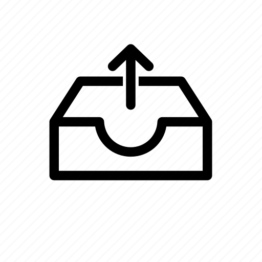 outbox, storage, upload, upload file icon