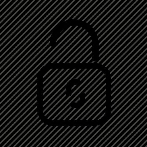 access, lock, password, security, unlock icon