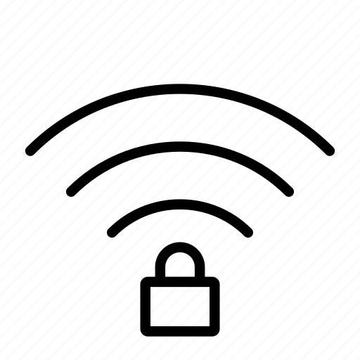 computer, hardware, it, locked, programming, service, wifi icon