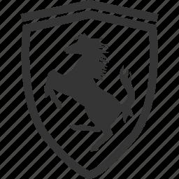 automobile, emblem, ferrari, horse icon