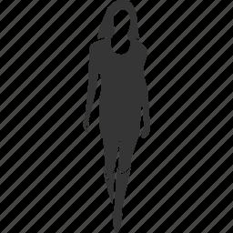 avatar, girl, walking, woman icon