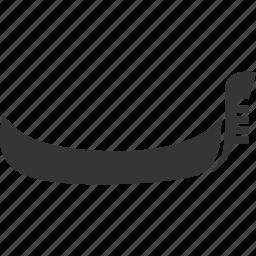 boat, gondola, italy, vehicle icon