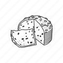 bread, food, italian food, panettone, snack, sweet, sweet bread icon
