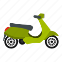 delivery, destination, scooter, technological, travel, urban, wheel icon