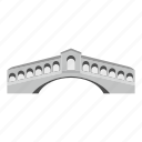 architecture, bridge, building, connection, construction, road, travel icon