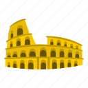arch, coliseum, italian, italy, national, rome, travel icon