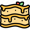 country, europe, fashion, italy, lasagne icon
