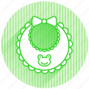 baby, baby items, bib icon