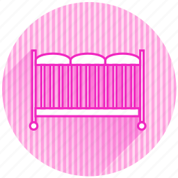 baby, baby items, cradle icon