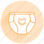 baby, baby items, diaper icon