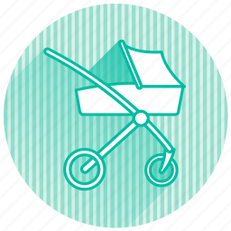 baby, baby items, stroller icon