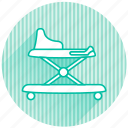 baby, baby items, walker icon