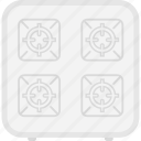 appliance, cook, cooking, equipment, gas, kitchen, stove icon