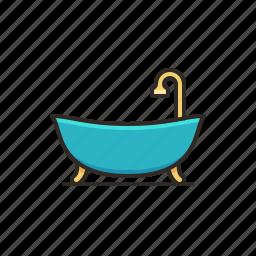 bath, bathroom, bathtub, grooming, hygiene, restroom icon