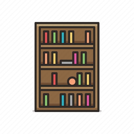 book, bookcase, bookmark, cabinet, library icon