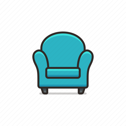 armchair, chair, furniture, home, household, rounded icon
