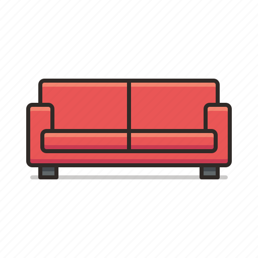 chair, couch, furniture, room, sofa icon