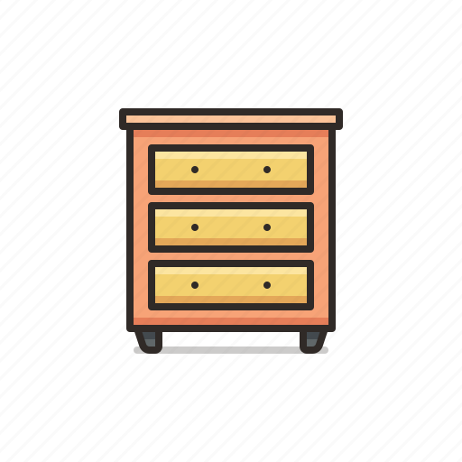 Drawers, tall, cabinet, furniture, home icon - Download on Iconfinder