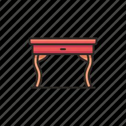 furniture, hall, interior, study, table icon