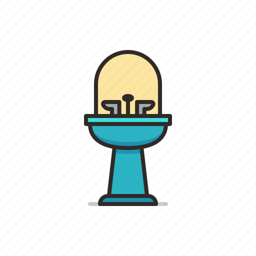 bathroom, sink, toilet, water icon