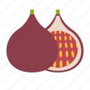 fig, fruit, healthy, tropical icon