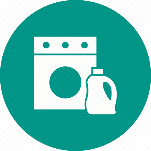 bottle, clean, clothes, detergent, laundry, machine, wash icon