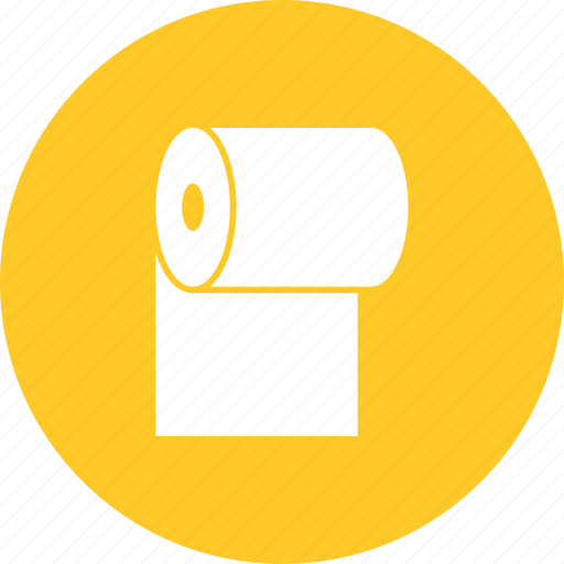 bathroom, cleaning, hygiene, paper, roll, tissue, toilet icon