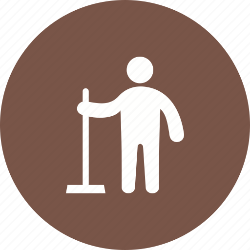 cleaning, floor, holding, male, service, water, wiper icon