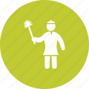 broom, clean, cleaning, dusting, house, mop, woman icon