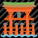 itsukushima, japan, landmark, shrine, torii icon