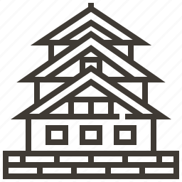 architecture, building, home, house, japan icon