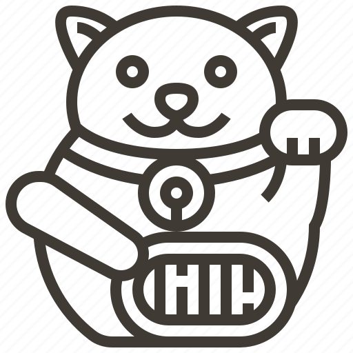 cat, japan, lucky, lucky cat icon