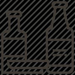 bottles, food, sake, soy sauce icon