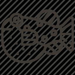 blowfish, fish, japan, seafood icon