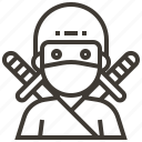japan, ninja, swords, warrior icon