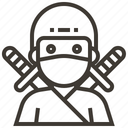 japan, ninja, swords, warrior icon